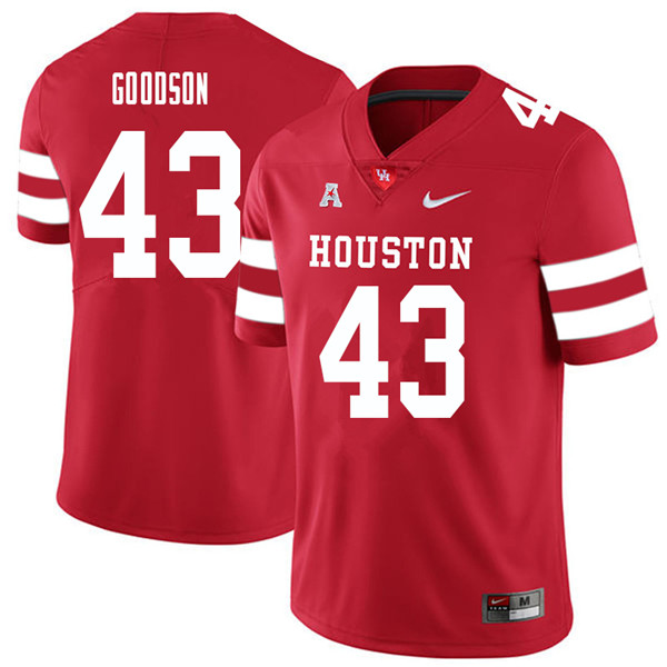 2018 Men #43 Dekalen Goodson Houston Cougars College Football Jerseys Sale-Red